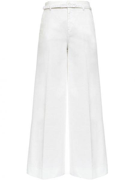 Szerokie spodnie elastyczne z paskiem Pinko