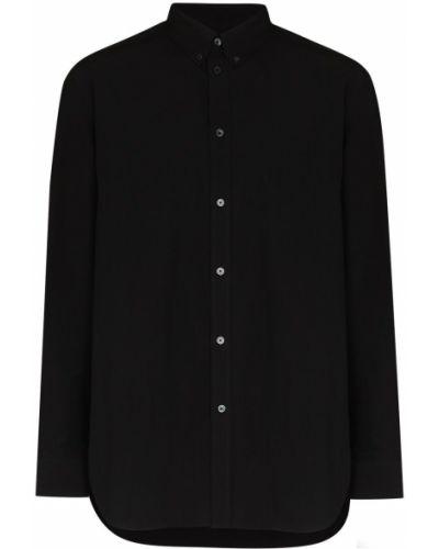 Czarna klasyczna koszula bawełniana z długimi rękawami Givenchy