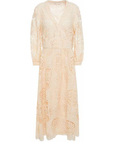 Кружевное платье миди Maje