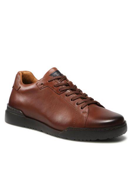 Sneakersy - brązowe Badura
