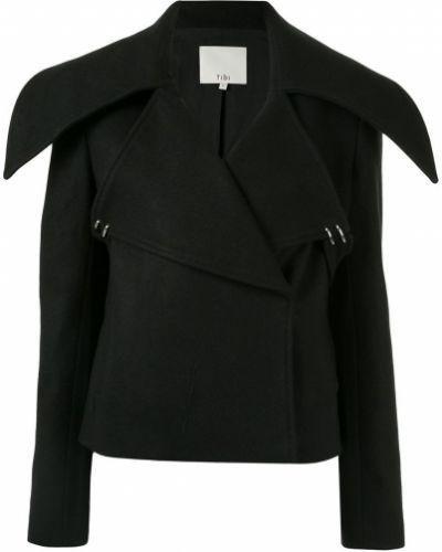 Длинная куртка черная оверсайз Tibi
