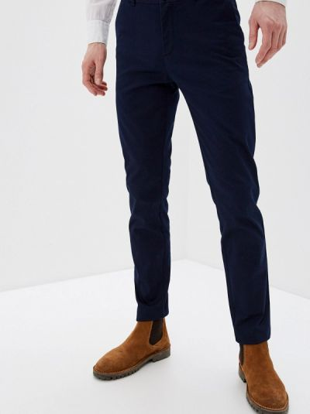 Синие брюки чиносы Sisley