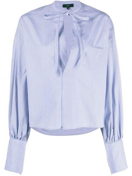 Хлопковая синяя рубашка в полоску Jejia