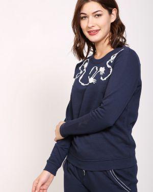 Хлопковый синий пуловер Pezzo
