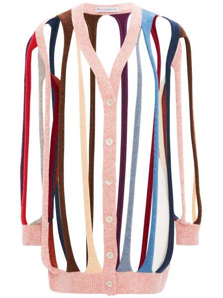 Шерстяной розовый кардиган Jw Anderson