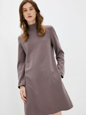 Коричневое зимнее платье Max Mara Leisure
