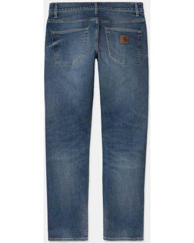 Синие прямые джинсы классические с низкой посадкой Carhartt Wip