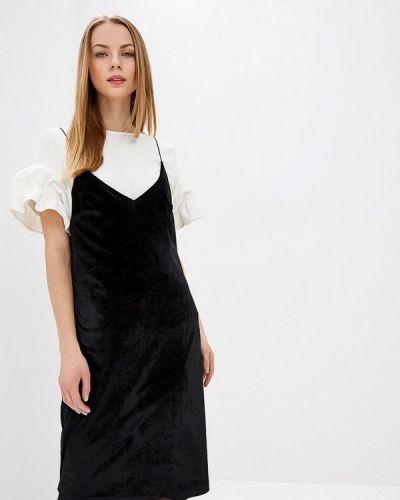 Платье осеннее черное Tzetze