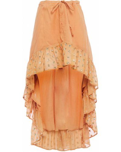 Хлопковое коричневое платье с подкладкой Sundress