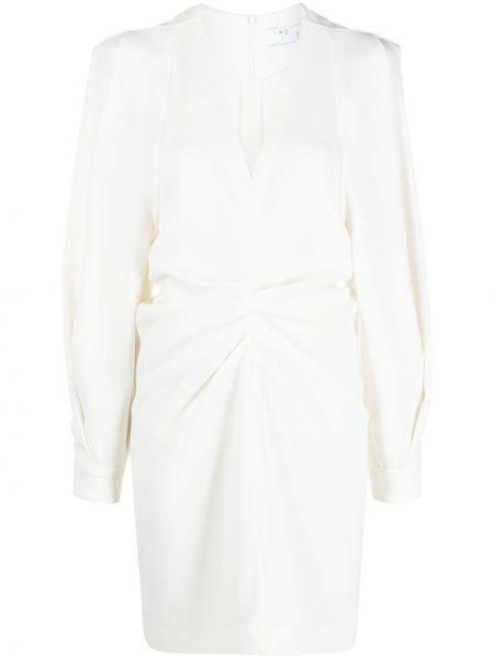 Прямое белое платье мини с вырезом Iro