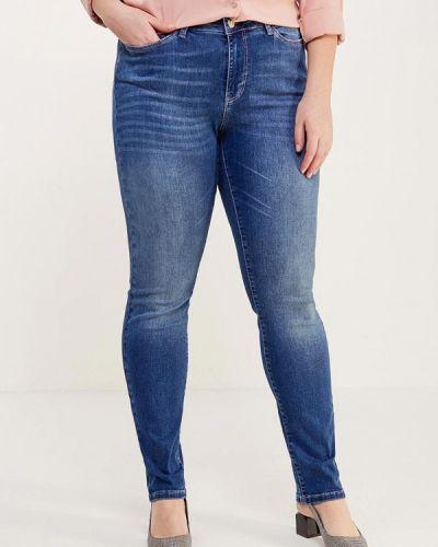 Синие джинсы с высокой посадкой Junarose