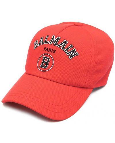 Czarny kapelusz bawełniany Balmain