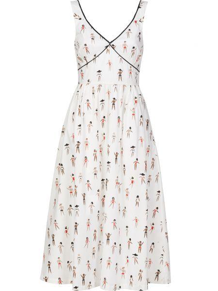 Хлопковое платье - белое Markus Lupfer