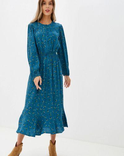 Повседневное платье бирюзовый осеннее Marks & Spencer