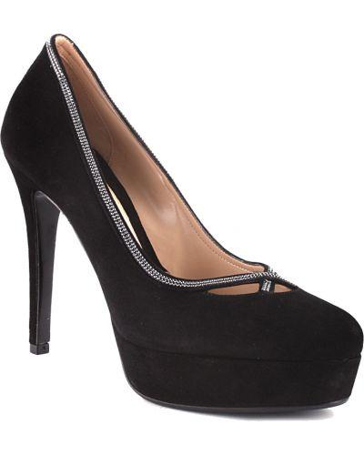 Кожаные туфли - черные Albano