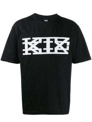 Футболка с принтом - черная Ktz