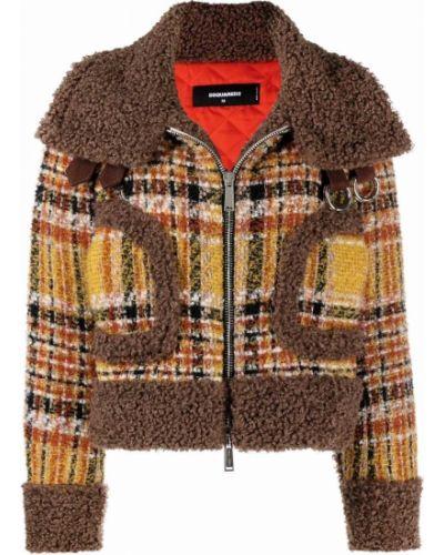 Стеганая куртка - коричневая Dsquared2