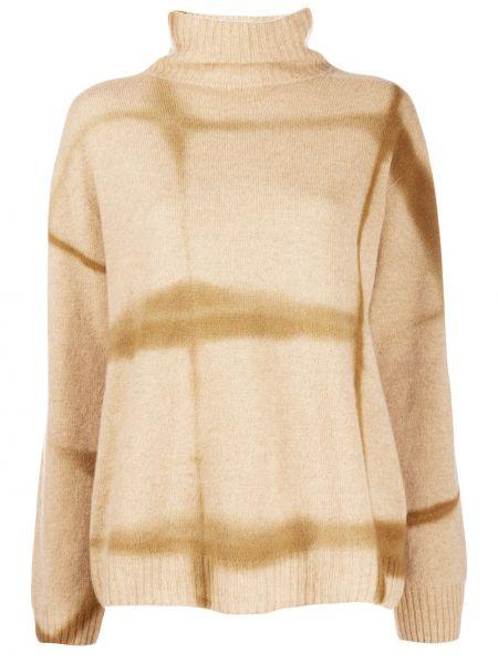 С рукавами кашемировый тонкий свитер в рубчик Suzusan