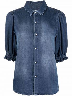 Синяя рубашка короткая Ba&sh