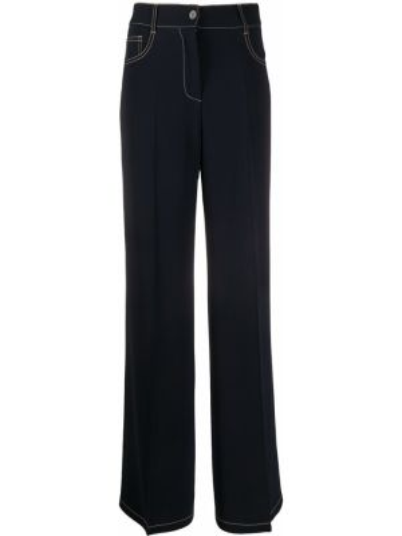 Szerokie spodnie z kieszeniami z paskiem Alberto Biani