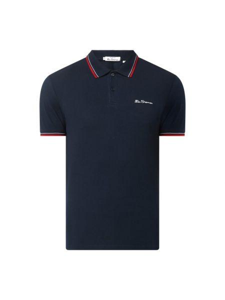 Niebieski t-shirt bawełniany Ben Sherman