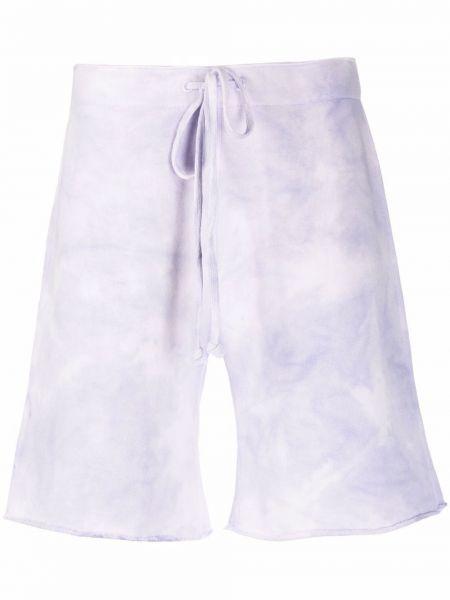 Фиолетовые трикотажные шорты с карманами Nili Lotan