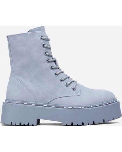 Яркие ботинки - голубые Deezee