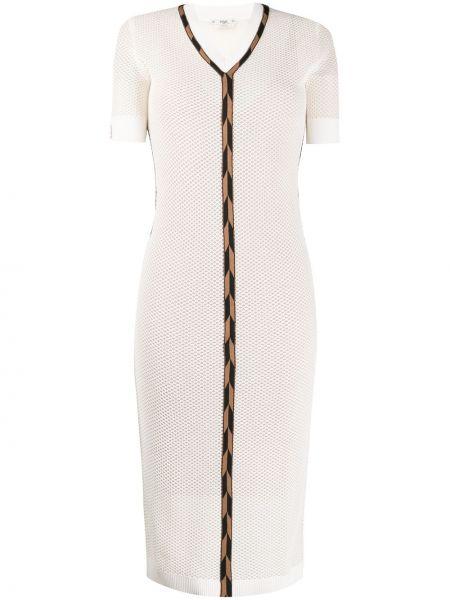 Платье мини миди в рубчик Fendi
