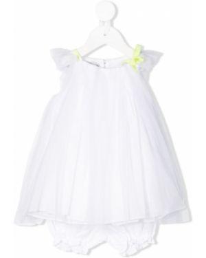 Biała sukienka tiulowa Baby Dior