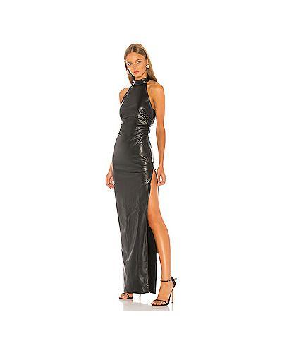 Вечернее платье на молнии кожаное Nbd