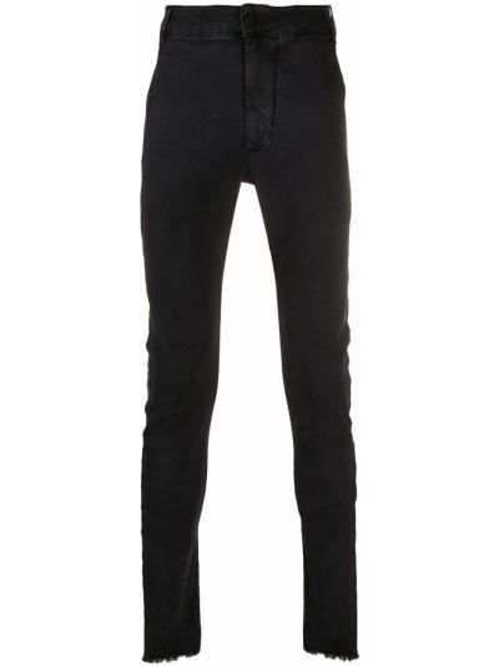 Bawełna czarny obcisłe dżinsy z łatami z kieszeniami Thom Krom