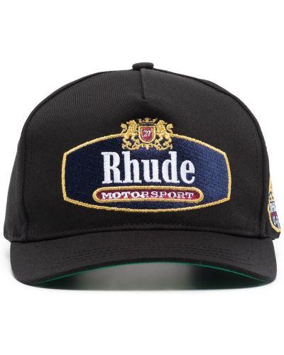 Czarna czapka z daszkiem Rhude