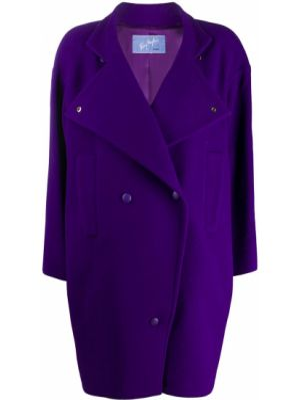 Шерстяное длинное пальто оверсайз с капюшоном Thierry Mugler Pre-owned