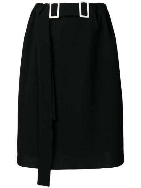 Черная юбка карандаш с рукавом 3/4 Edeline Lee