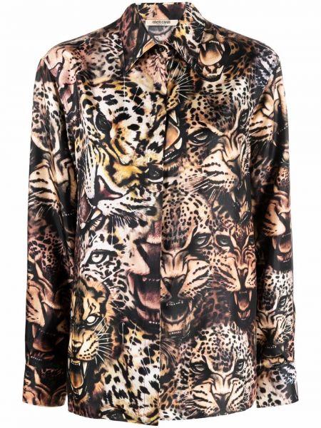 Рубашка с длинным рукавом - черная Roberto Cavalli