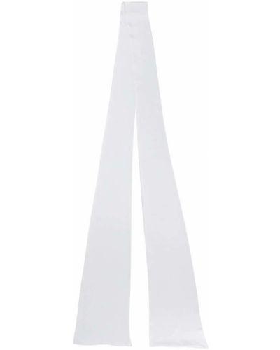 Белый шарф узкий Styland
