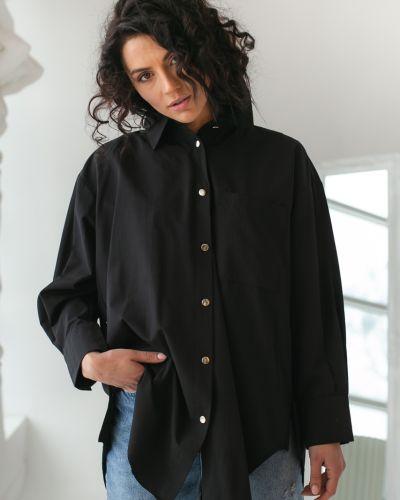 Рубашка с длинным рукавом - черная Clew