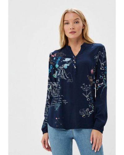 Синяя блузка с длинным рукавом Desigual