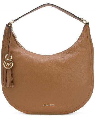Кожаный сумка сумка-хобо на плечо Michael Michael Kors