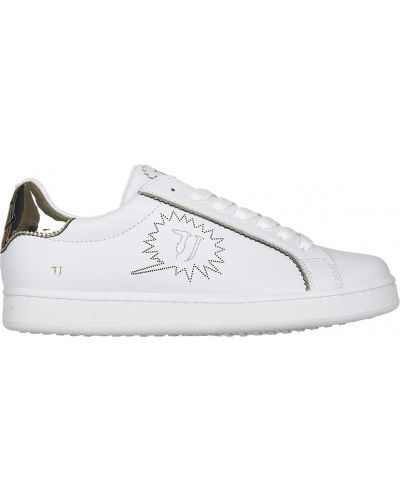 Кроссовки на платформе белый Trussardi Jeans