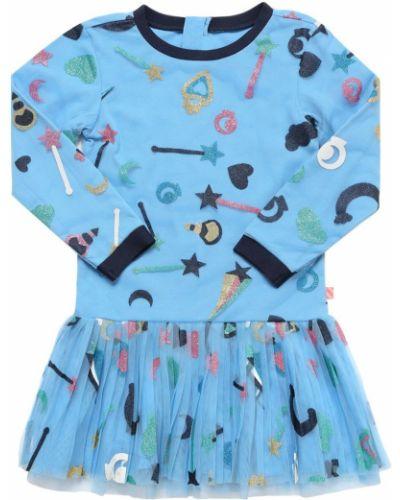Платье из вискозы - голубое Billieblush