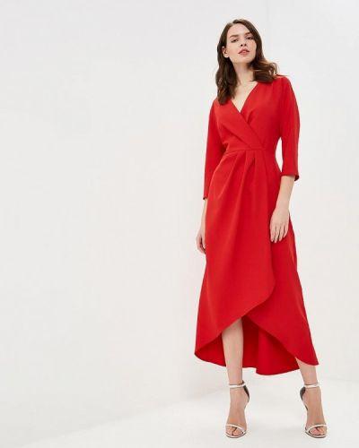 Вечернее платье красный осеннее Irina Vladi