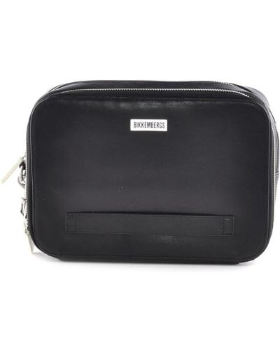 Кожаная сумка черная Bikkembergs