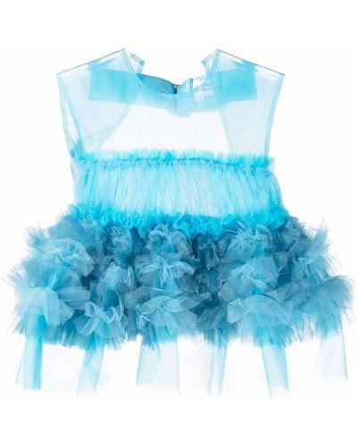 Блузка без рукавов - синяя Comme Des Garçons Noir Kei Ninomiya