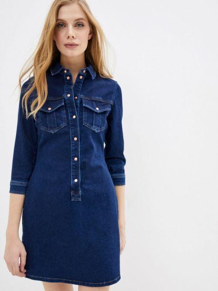 Джинсовое платье синее весеннее River Island