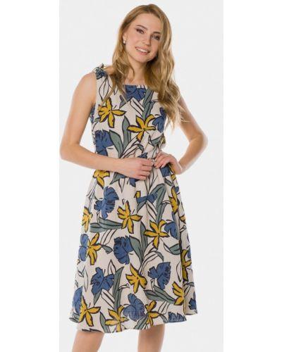 Бежевое платье весеннее Mr520