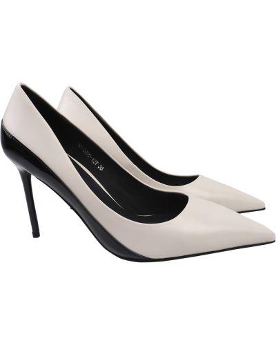 Кожаные туфли - белые Djovannia