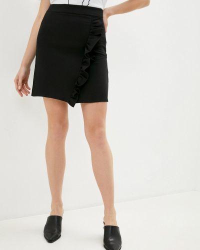 Черная прямая юбка карандаш Trendyol