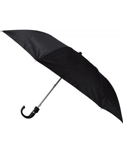 Czarny automatyczny parasol materiałowy Semiline