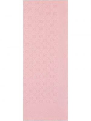 Kaszmir różowy szalik przycięte Gucci